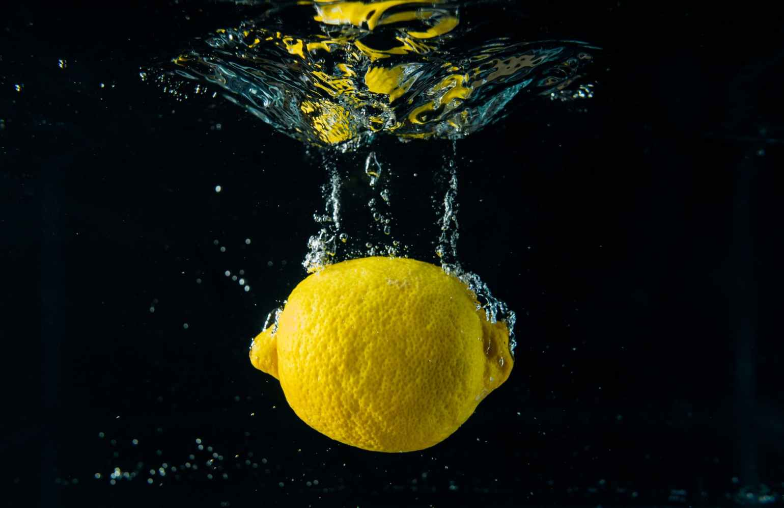 lemon in body of water